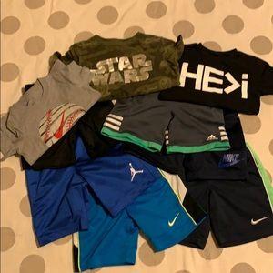 Nike Jordan Adidas shorts & tee shirt bundle 4